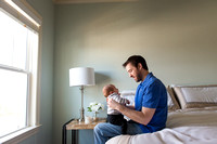 Dad Baby Newborn Photography